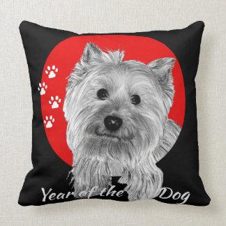 Year of the Dog - Hand Drawn Terrier Print Cushion
