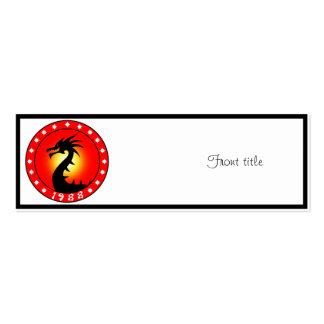 Year of The Dragon 1988 Business Card