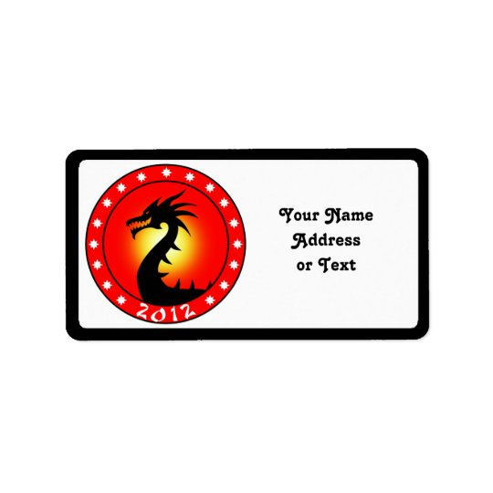 Year of the Dragon 2012 Address Label