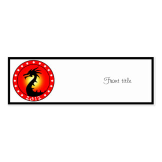 Year of the Dragon 2012 Business Card Template