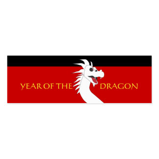 Year of the Dragon Chinese New Year Gift Tag Business Card Templates