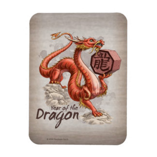 Year of the Dragon Chinese Zodiac Art Magnet