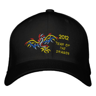 year of the dragon embroidered baseball caps