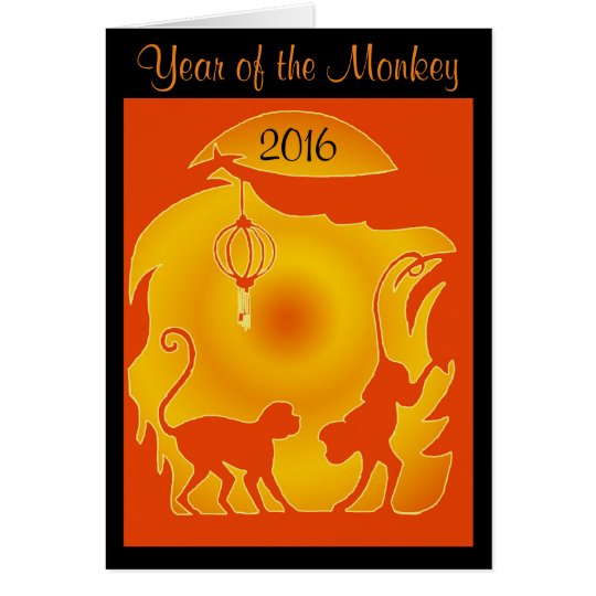 Year of the Fire Monkey Card