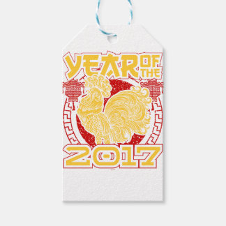 Year of the Fire Rooster 2017 Chinese Zodiac Gift Tags