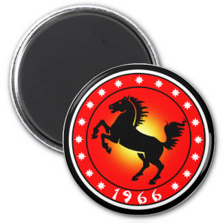 Year of the Horse1966 6 Cm Round Magnet