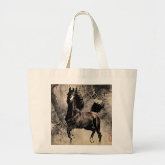 Year of the Horse 2014 - Chinese Painting Art Jumbo Tote Bag