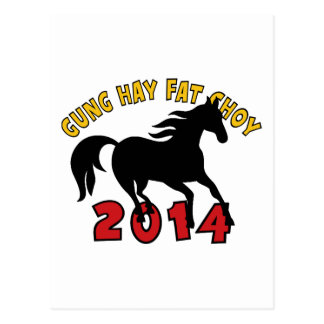 Year of The Horse 2014 Postcard