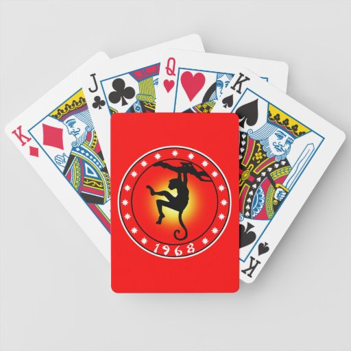 Year of the Monkey 1968 Deck Of Cards