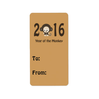 Year of the Monkey 2016 Address Label