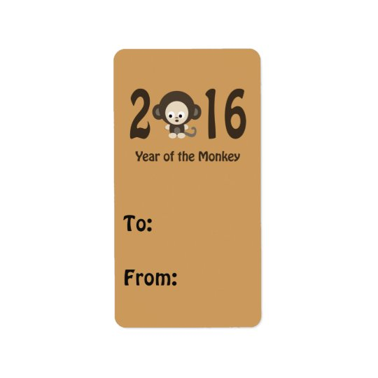 Year of the Monkey 2016 Address Label