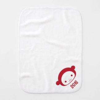 Year of the Monkey 2016 Baby Baby Burp Cloth