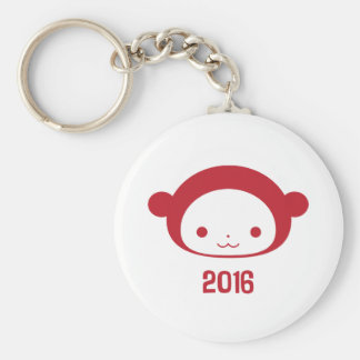 Year of the Monkey 2016 Button Keychain