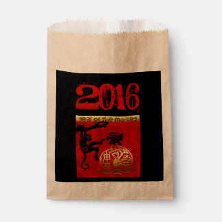 Year of The Monkey Chinese New Year 2016 Favor Bag