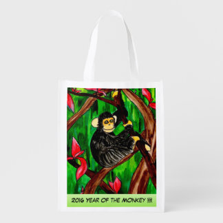 Year of the Monkey reusable bag