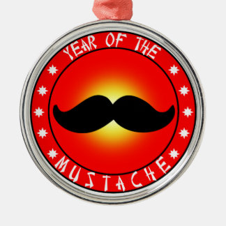 Year of the Mustache Metal Ornament