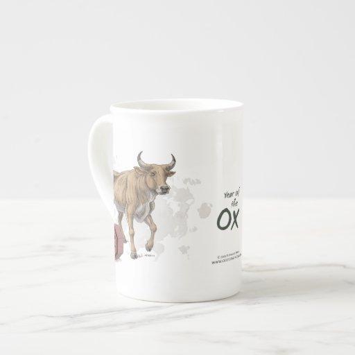 Year of the Ox Chinese Zodiac Animal Art Porcelain Mugs