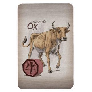 Year of the Ox Chinese Zodiac Art Rectangular Photo Magnet