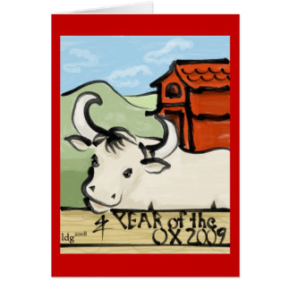 Year of the Ox Farm 2009 Card