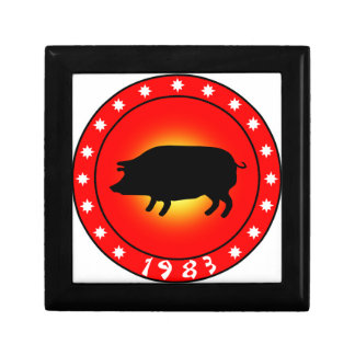 Year of the Pig 1983 Small Square Gift Box