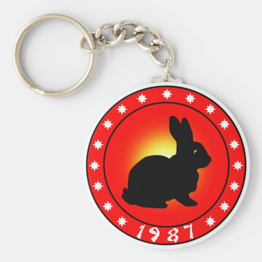 Year of the Rabbit 1987 Keychain