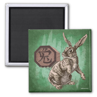 Year of the Rabbit Chinese Zodiac Art 2 Inch Square Magnet
