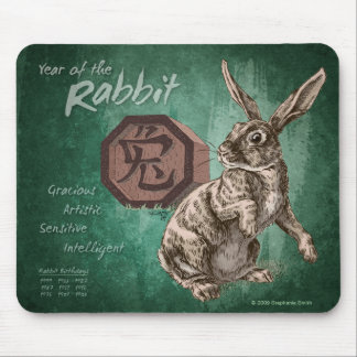 Year of the Rabbit Chinese Zodiac Astrology Mouse Pads