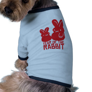 Year of the rabbit doggie tshirt
