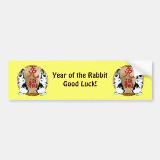 Year of the Rabbit-Good Luck Bumper Sticker