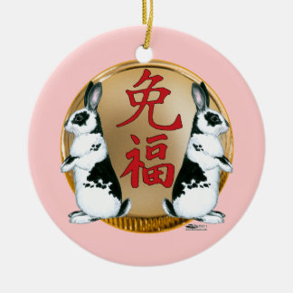 Year of the Rabbit-Good Luck Ceramic Ornament
