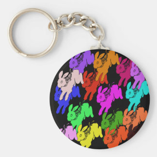 Year of the Rabbit Basic Round Button Key Ring