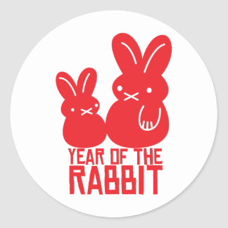 Year of the rabbit round sticker