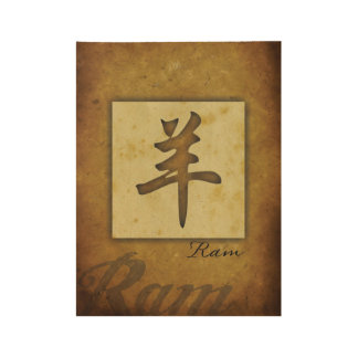 Year of the Ram_Chinese Zodiac Wood Poster