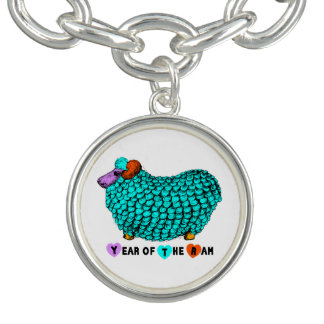 Year of the Ram or Sheep Turquoise Bracelet