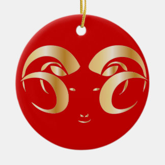 Year of the Ram Sheep Christmas Tree Ornament