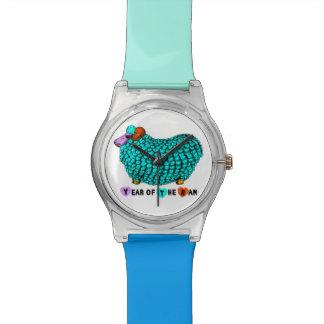 Year of the Ram Sheep or Goat Turquoise Watch