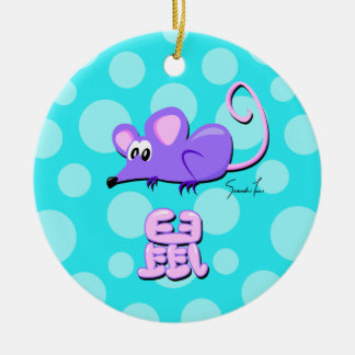 Year of the Rat Ceramic Ornament