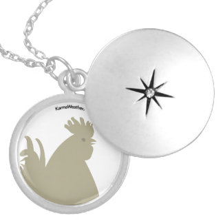 Year of the Rooster (Chicken) Silver Plated Necklace