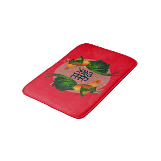 Year of the Rooster Circle Bath Mat