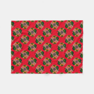 Year of the Rooster Circle Fleece Blanket