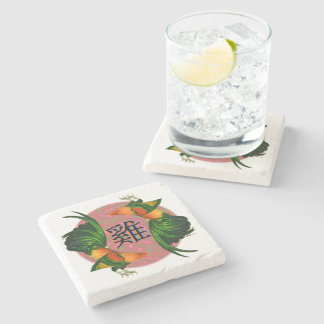Year of the Rooster Circle Stone Coaster