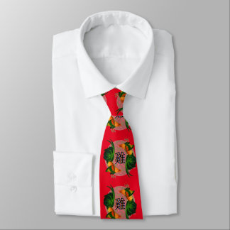 Year of the Rooster Circle Tie