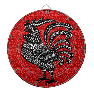Year of the rooster dart board