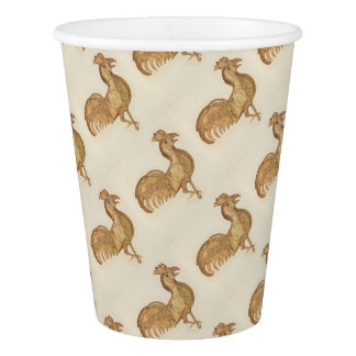 Year of the Rooster Happy New Year 2017 Party Paper Cup