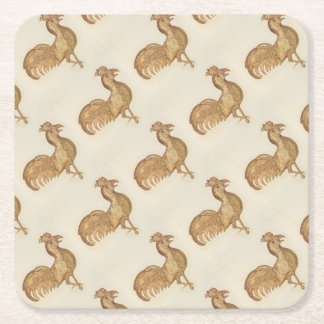 Year of the Rooster Happy New Year 2017 Party Square Paper Coaster