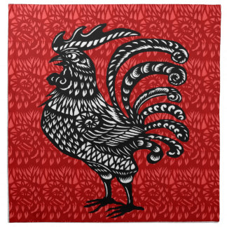 Year of the rooster napkin