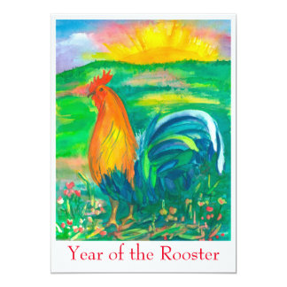 Year of the Rooster Party Invitation