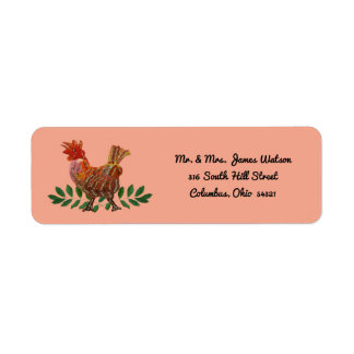 Year of the Rooster Return Address Label