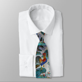 Year of the Rooster Tie Design 1