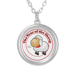 Year of the Sheep Cartoon Silver Plated Necklace